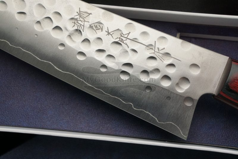 Фотография #4 Японский кухонный нож Сантоку Hiroshi Kato Ginsan D1011R 16.5см