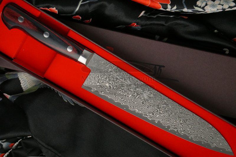 Фотография #1 Японский кухонный нож Гьюто Hiroshi Kato Black Nickel Damascus  D612 21см