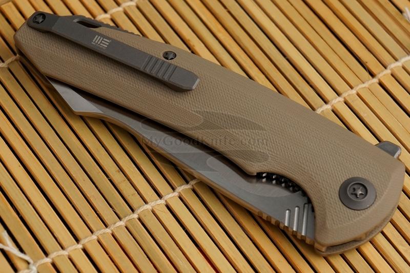 Фотография #5 Складной нож We Knife Satin, Tan 617F 10см