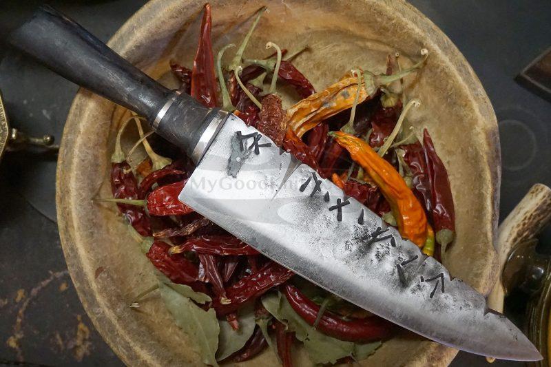 Photo #5 Chef knife Cathill Knives Runes blade cchtt 22.5cm
