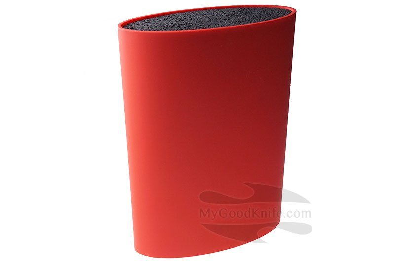 Photo #1 Zeller Oval Knife Block, red (without knives)