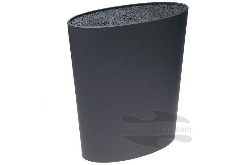 Photo #1 Zeller Oval Knife Block, black (without knives)