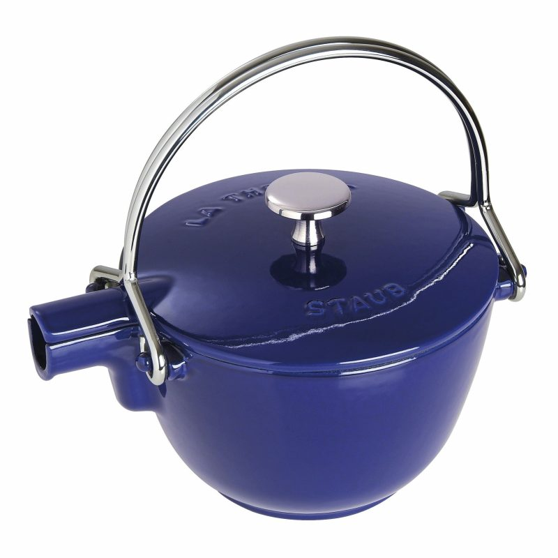 Photo #1 Staub Round Tea Kettle dark blue 1650091