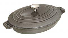 Staub Oval Covered Baking Dish 23x17 cm, Graphite grey 40509-581-0