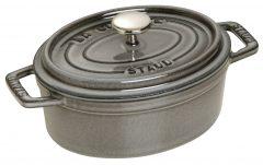 Staub Oval Cocotte 15 cm, Graphite grey 40509-477-0