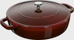 Staub Universal pan Chistera 24 cm, Grenadine red 40511-512-0