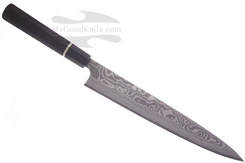 Photo #1 Takeshi Saji Slicer, damascus, ebony wood, buffalo horn