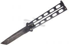 Folding knife bear & son butterfly knife tanto damascus bc114ad