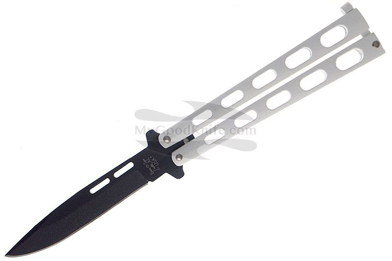 Photo #1 Balisong Bear&Son White Drop Point Butterfly  115W 10.8cm