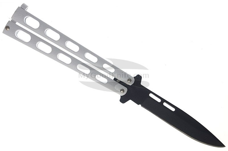 Photo #3 Balisong Bear&Son White Drop Point Butterfly  115W 10.8cm