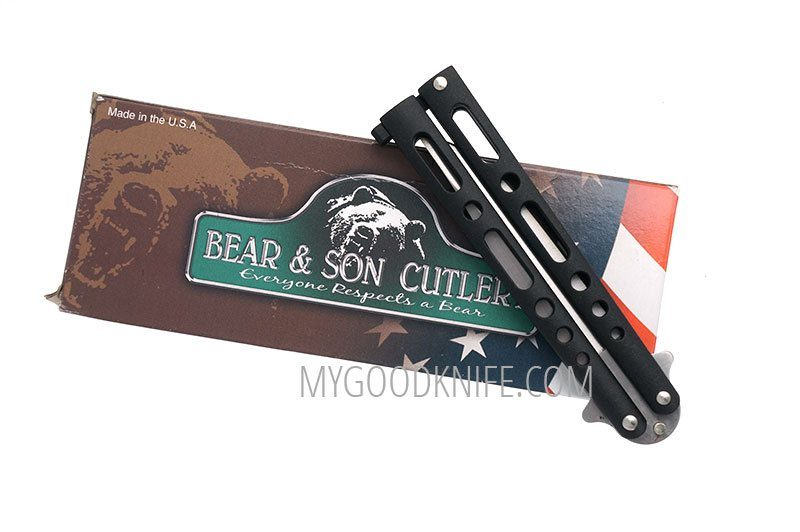 Photo #3 Balisong Bear&Son Butterfly Black  117B 10cm