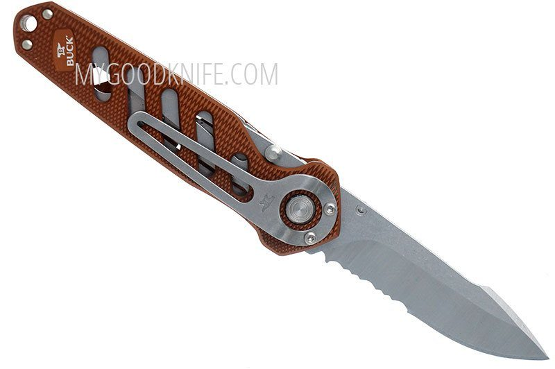 Photo #4 Buck 183 Alpha Crosslock Knife Brown 0183BRS-B