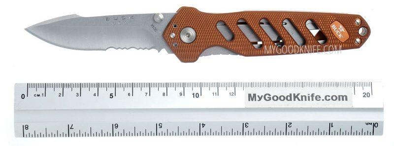 Photo #5 Buck 183 Alpha Crosslock Knife Brown 0183BRS-B