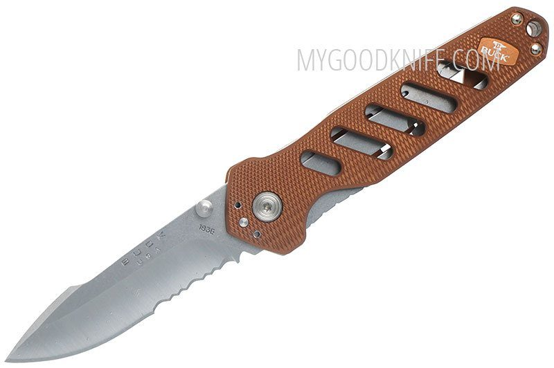 Photo #1 Buck 183 Alpha Crosslock Knife Brown 0183BRS-B