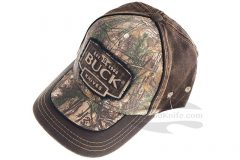 Buck Adult Hat-Camo and Suede 89087
