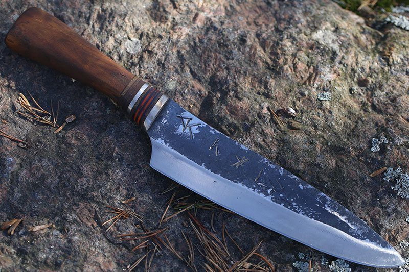 Photo #2 Cathill Knives Chef knife, oak handle