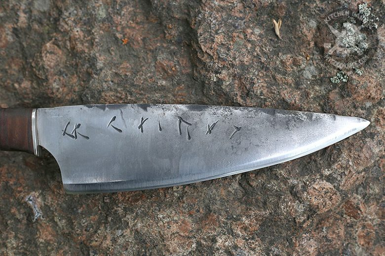 Photo #3 Cathill Knives Chef knife, birch burl handle