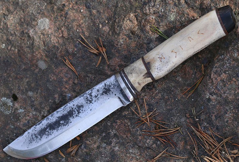 Photo #1 Cathill Knives Fixed blade knife, horn handle (Копировать)