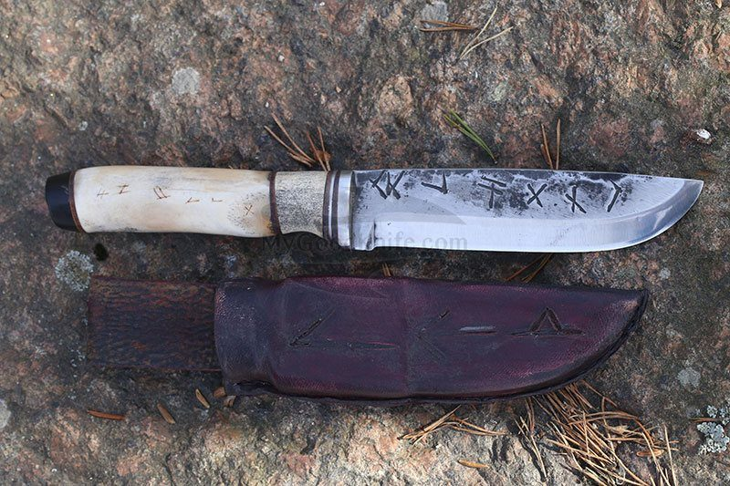 Photo #3 Cathill Knives Fixed blade knife, horn handle (Копировать)