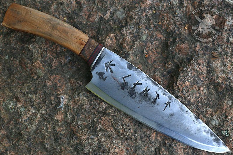 Photo #1 Cathill Knives Chef knife, appletree handle
