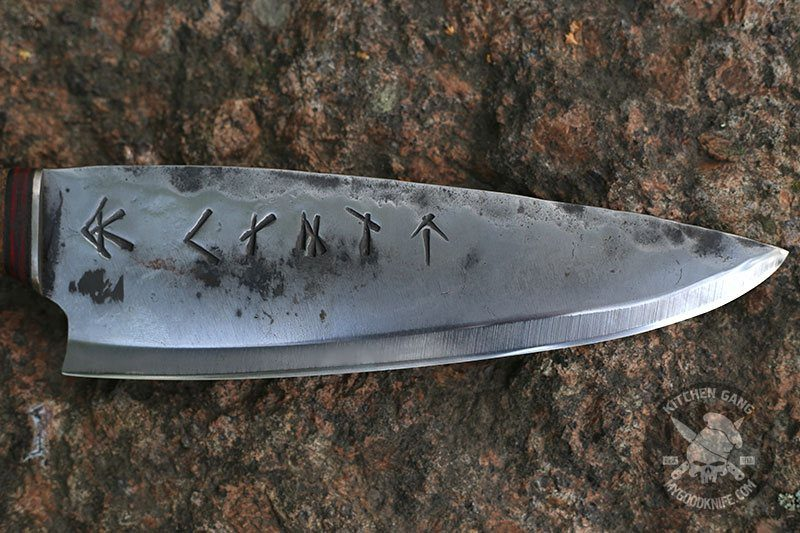 Photo #3 Cathill Knives Chef knife, appletree handle