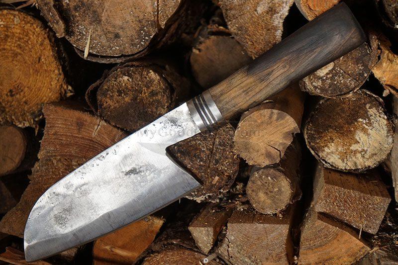 Фотография #2 Универсальный кухонный нож Cathill Knives Сантоку, дуб ckst2305 14.5см