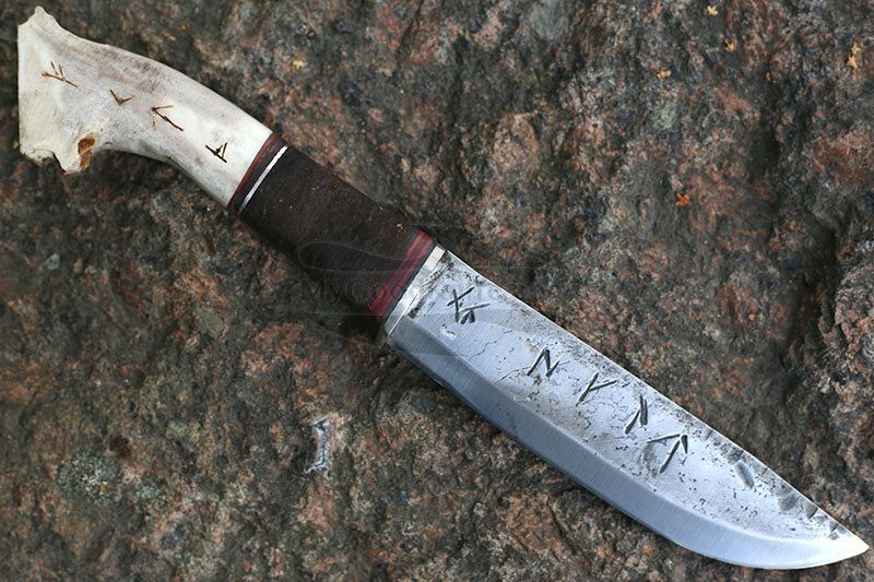 Photo #1 Cathill Knives Fixed blade knife, horn handle
