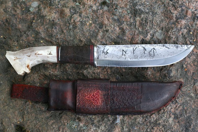 Photo #4 Cathill Knives Fixed blade knife, horn handle