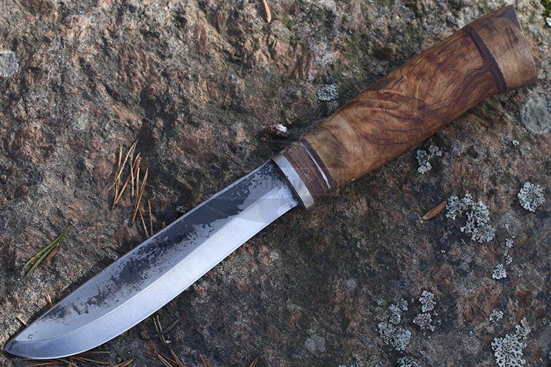 Photo #1 Cathill Knives Fixed blade knife, birch burl