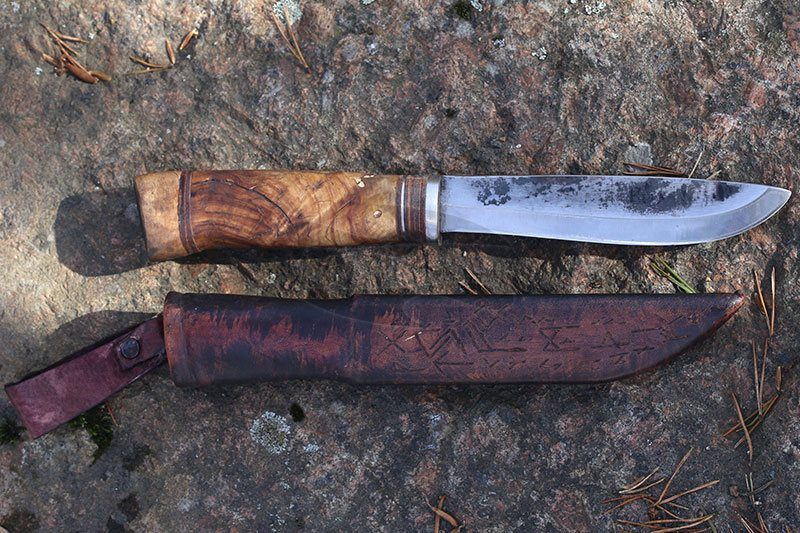 Photo #3 Cathill Knives Fixed blade knife, birch burl