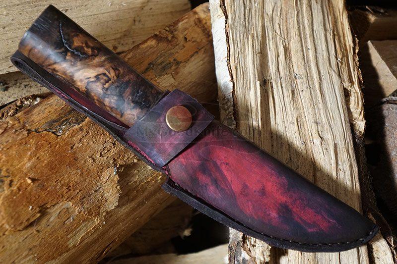 Valokuva #4 Cathill Knives Eräpuukko, stabilisoitua koivunpahkaa ckepkp2305 9.7cm