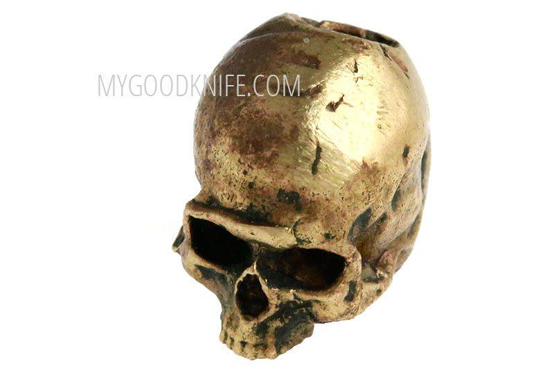 Valokuva #4 Lanyard Bead Skull small, bronze