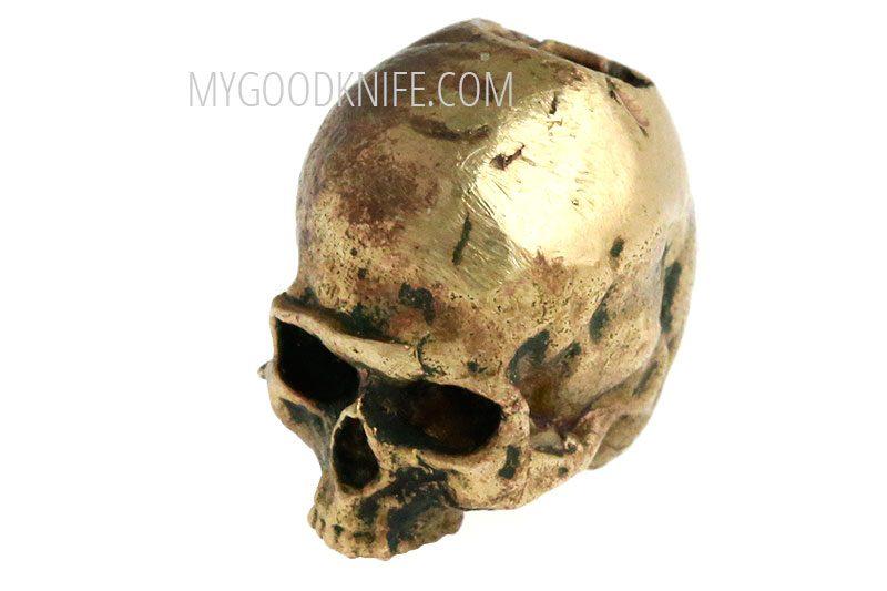 Valokuva #1 Lanyard Bead Skull small, bronze