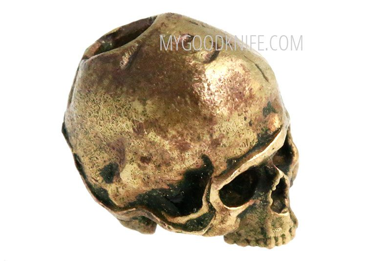 Valokuva #3 Lanyard Bead Skull small, bronze