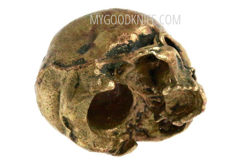 Valokuva #2 Lanyard Bead Skull small, bronze