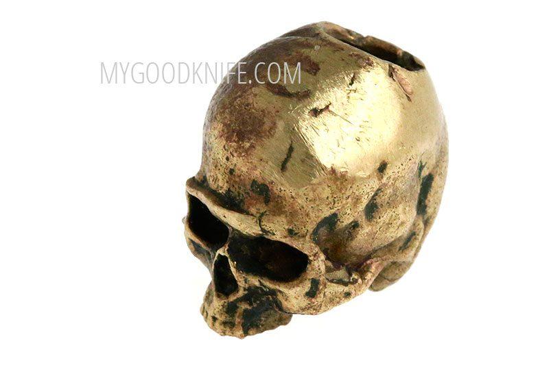 Valokuva #5 Lanyard Bead Skull small, bronze