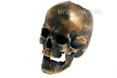 Lanyard bead lanyard bead skull, bronze