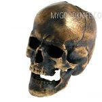 Valokuva #2 Lanyard Bead Skull, bronze