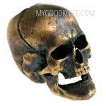 Valokuva #1 Lanyard Bead Skull, bronze