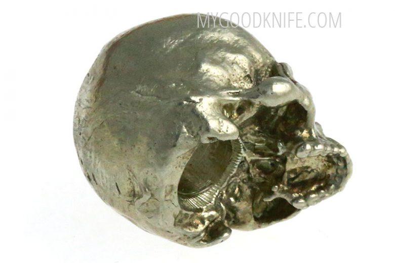 Фотография #2 Lanyard Bead Small Skull, nickel silver