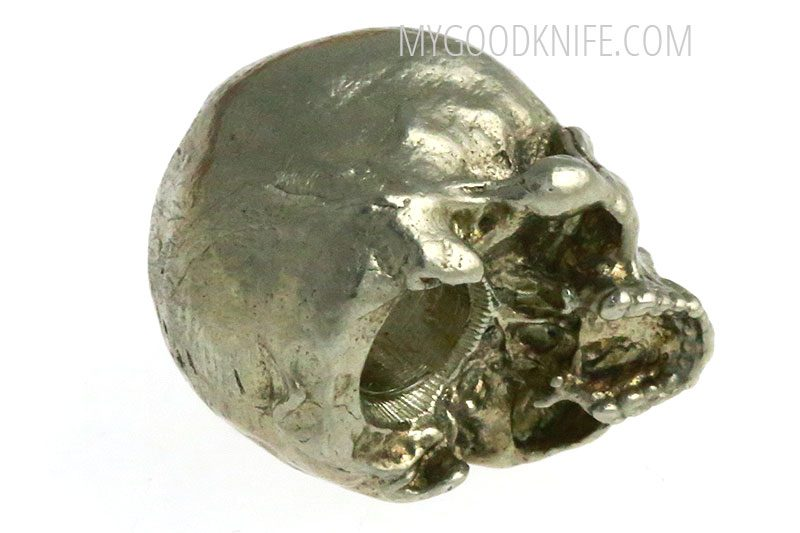 Photo #2 Lanyard Bead Small Skull, nickel silver
