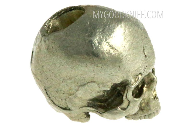 Photo #3 Lanyard Bead Small Skull, nickel silver