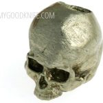 Photo #1 Lanyard Bead Small Skull, nickel silver