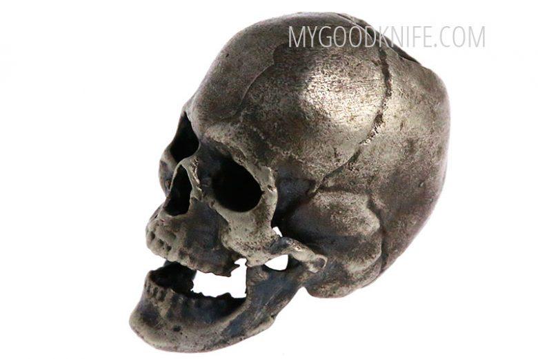 Valokuva #2 Lanyard Bead Skull, nickel silver