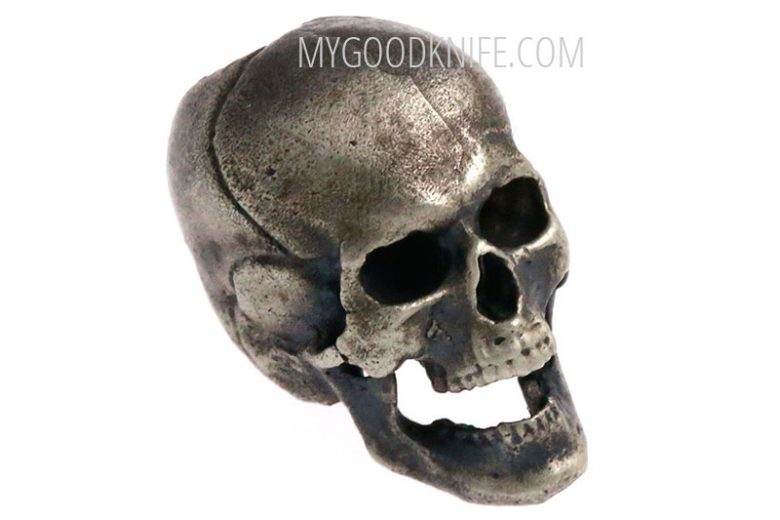 Valokuva #1 Lanyard Bead Skull, nickel silver