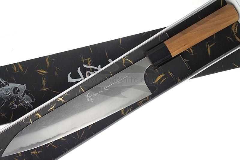 Photo #3 Chef knife Hiroshi Kato, Aogami, cherry wood
