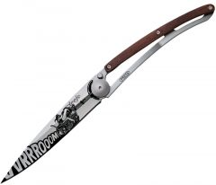 Deejo Tattoo Vroom pocket knife, Coralwood 37g