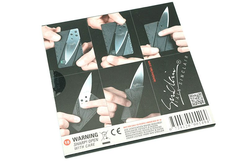 Photo #1 Iain Sinclair CardSharp2 Credit Card Folding Safety (IS1)