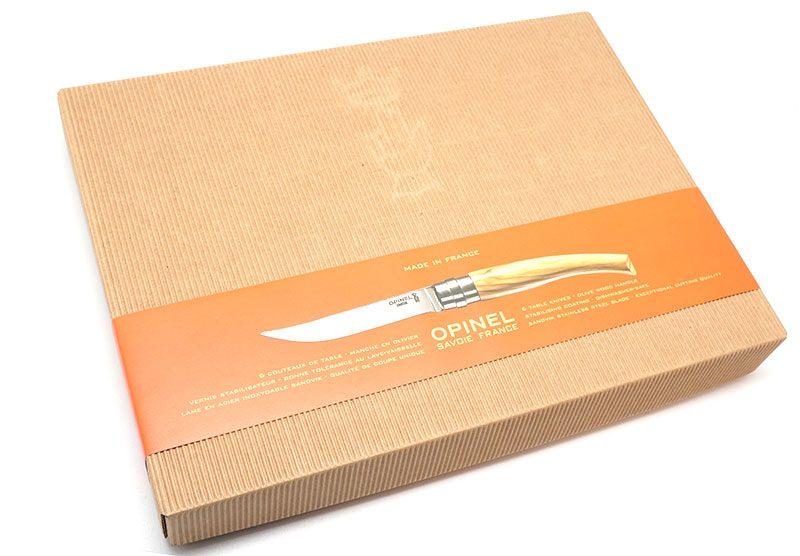 Photo #2 Opinel Steak Knives Olive wood handle, set of 6 (001463)
