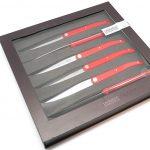 Photo #1 Tarrerias-Bonjean Set of 6 Steak knives Laguiole Sens Red (449183)